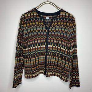 Peruvian Connection Pima Cotton Zip Sweater
